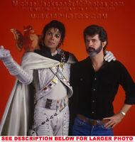 MICHAEL JACKSON CAPTAIN EO with GLUCAS 1xRARE PHOTO