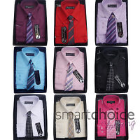 Boys Kids Special Formal Wedding Shirts and Tie Set Multiple Colours
