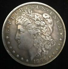 ">>1885-P  Vintage MORGAN SILVER DOLLAR COIN>>1885 ""AU"" Philadelphia Mint COIN"