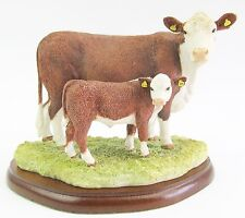 Hereford Cow & Calf Figurine - Border Fine Arts Studio A27690 2016