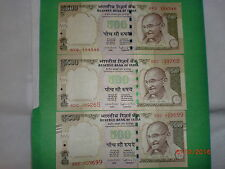 - INDIA PAPER MONEY- 3  'MG' NOTES-RS. 500/- YR. '2015'- ONE SIGN.-3 DESIGNS# EB