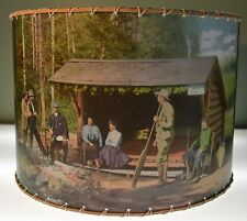 "Adirondack Lean-to, Lamp Shade 16"" x 16"" Rustic Decor"