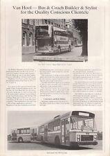 Van Hool 1980 UK Market Foldout Sales Brochure Bus Coach Trailer
