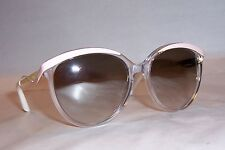 NEW CHRISTIAN DIOR METALEYES 1/S 6OB-IQ CRYSTAL PINK/SILVER SUNGLASSES AUTHENTIC
