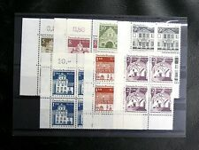 TIMBRES D'ALLEMAGNE : BERLIN 1966 YVERT N° 246 à 252 BLOCS DE 4** cdf - TBE