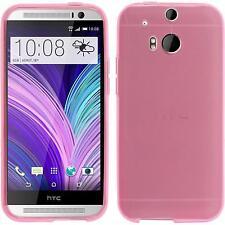 Coque en Silicone HTC One M8 - transparent rose + films de protection