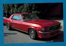 Car Postcard ~ 1967 Ford Mustang Coupe: Milan 1990 - Niccolini of Italy