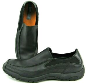 Timberland Earthkeepers Black Leather Mens Square Toe Slip On Casual Loafers 13M