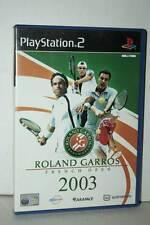 ROLAND GARROS 2003 FRENCH OPEN USATO OTTIMO PS2 VERSIONE ITALIANA PAL GP1 39873