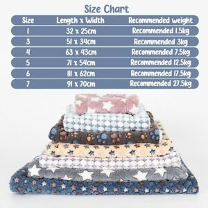 Pet Cat Dog Puppy Blanket Bed Mattress Spring Kennel Fleece Sleep Calming Mat.