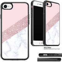 Girly rose gold and white marble pink Soft Rubber/Silicon Phone Case