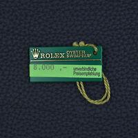 ROLEX Hangtag OYSTER SWIMPRUF New Vintage Preisschild vintage price tag 100%