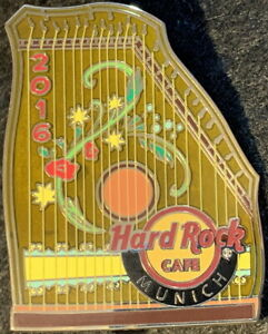 "Hard Rock Cafe MUNICH 2016 Traditional Bavarian Instrument ""Zither"" PIN #91046"