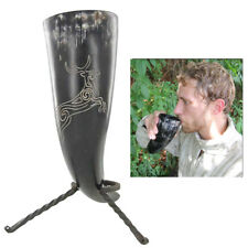 Prancing Roe Buck Medieval Dining Hall Viking Ale Mead  Drinking Horn