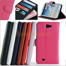 Folding Leather Wallet Stand Protective Case Cover Samsung Galaxy Note II N7100