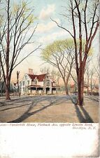 1906 Vanderbilt House Flatbush Ave. opposite Lincoln Road Brooklyn NY post card