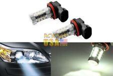80W H8 LED Fog Light Bulbs 6000K White Driving Running Lamp 1200Lm Bright Set US