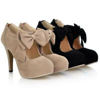 Women Party Court Shoes Fashion Sexy High Heels Bowknot Mary Jane Pumps Stiletto