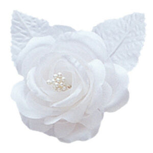12 silk roses wedding favor flower corsage white