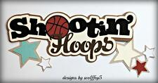 Craftecafe Basketball Title paper piecing premade scrapbook page diecut Wolffey5