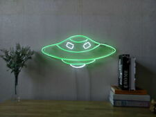 New UFO Alien Neon Sign For Bedroom Wall Home Decor Artwork Light With Dimmer