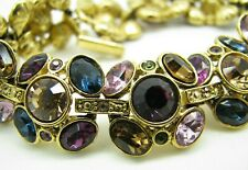 New SUZANNE SOMERS COLORFUL CRYSTAL Earrings Set TENNIS BRACELET Cluster Panels