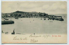 Panorama St Ives Bay Cornwall England UK 1903 postcard