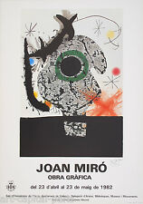MIRO JOAN AFFICHE SIGNÉE PRODUITE EN 1982 FOND POLIGRAFA SIGNED POSTER