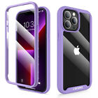 For iPhone 11 12 13 Pro Max mini SE 2020 Clear Case W/ Built-in Screen Protector
