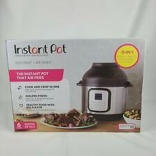 NEW! Instant Pot Duo Crisp 6 Qt 11-in-1 1-Touch Pressure Cooker & Air Fryer Lid!