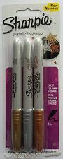 SHARPIE Fine Point Permanent Markers METALLIC - Gold, Silver, Bronze