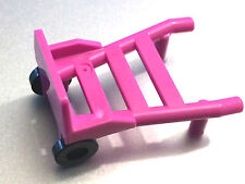 *NEW* 2 Pieces Lego Minifig Utensil HAND TRUCK DARK PINK Trolley