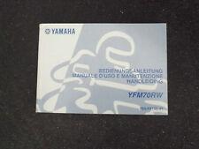 MANUALE D'USO E MANUTENZIONE  YAMAHA  YFM70RW