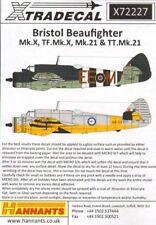 Xtradecal 1/72 Beaufighter Mk.X, TF MK.X, Mk.21, TT MK.21 # 72227