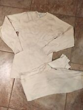 New Military Extreme Cold Weather Undershirt & Drawers, Cotton, Small #M11