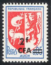 Reunion 1967 French Towns Coats-of-Arms/Auch/Lamb/Lion/Flag/Heraldry 1v (n44285)