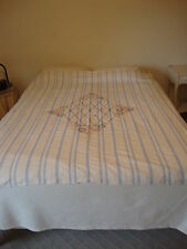 Hand Embroidered Bedspread Coverlet 72 x 70