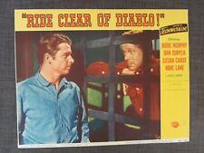 1954 RIDE CLEAR OF DIABLO Movie Lobby Card, Audie Murphy, Dan Duryea