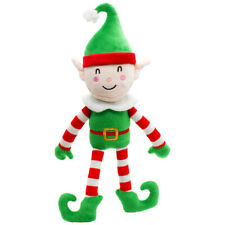 Happy Pet Halloy & Robin Naughty & Nice Elf Plush Squeaky Dog Toy