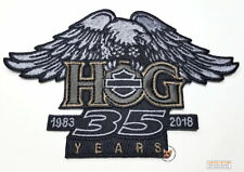 HOG 35TH ANNIVERSARY FULL COLOR EAGLE PATCH HARLEY DAVIDSON OWNERS GROUP SMALL