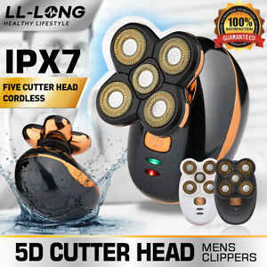 Electric Hair Remover Shavers Bald Head Razor Smooth Skull Cord Cordless Wet Dry