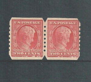 US Scott # 368, MINT / VF / LH VENDING COMPANY COIL PAIR! SCV $80.00
