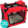 RayGar Folding Dog Cat Puppy Pet Carrier Fabric PortableKennel Crate Cage - New
