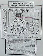 PUBLICITE DENTOL FABLES DE LA FONTAINE LE RAT SIGNE BENJAMIN RABIER DE 1924 AD