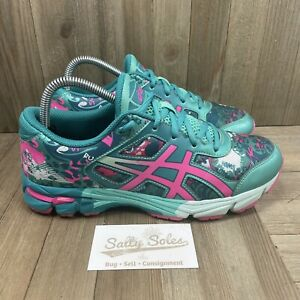 Asics Gel Noosa TRI 11 Blue/Pink Running Shoes Sneakers Trainers Womens 8 (6.5Y)