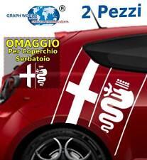 2 Adesivi fasce laterali bisce ALFA ROMEO stickers tuning car mito 147 giulia
