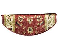 Paragradini per scale - Fiori rosso, tappeto scale sagomato mezzaluna per coprig