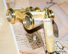 Antique British Handheld Brass Binocular Opera Theater Glasses Vintage Telescope