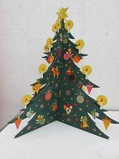Vintage Christmas Tree Advent Calendar From Denmark IOP I. Levison Jr.