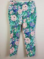 [ ZARA ] Womens Floral Print Pants   Size AU 14 or US 10